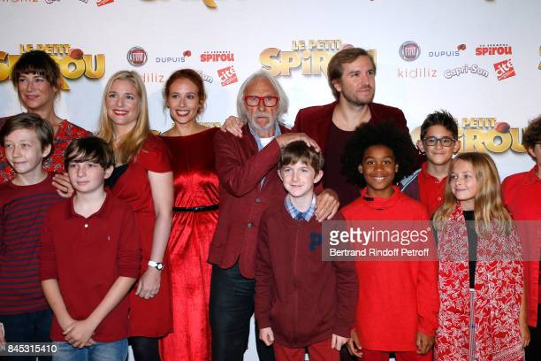 Actors of the movie Virginie Hocq Natacha Regnier Gwendolyn Gourvenec Pierre Richard 'Le Petit Spirou' Sacha Pinault Director Nicolas Bary and actors...