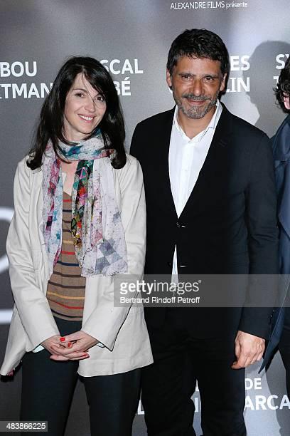 Actors of the movie Zabou Breitman and Pascal Elbe attend the '24 Jours' Paris Premiere at Cinema Gaumont Marignan on April 10 2014 in Paris France