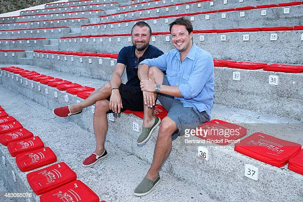 Actors of the Piece Alexandre Brasseur and Davy Sardou attend the 'Georges and Georges' Theater play during the 31th Ramatuelle Festival Day 5 on...