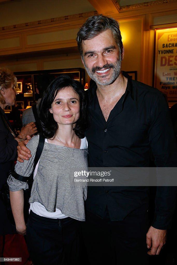Actors of the piece Rachel Arditi and Francois Vincentelli attend 'Du vent dans les branches de Sassafras' Theater Play Live on France 2 TV Chanel. Held at Theatre Edouard VII on June 28, 2016 in Paris, France.