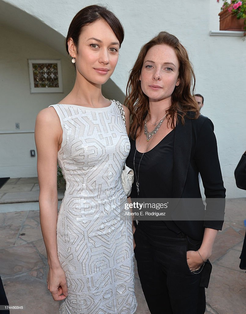 Actors Olga Kurylenko and Rebecca Ferguson attend The Brittish Consulate's toast of the U.S. launch of the Starz original series 'The White Queen' on July 25, 2013 in Los Angeles, California.