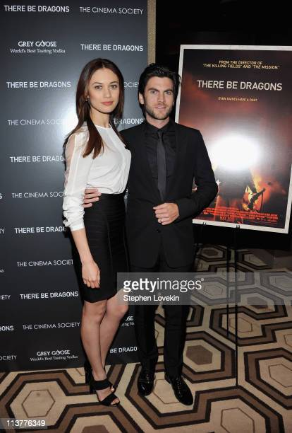 Actors Olga Kurylenko and Wes Bentley attend The Cinema Society Grey Goose screening of 'There Be Dragons' at the Tribeca Grand Hotel on May 5 2011...