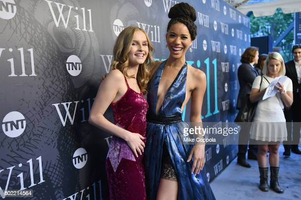 Actors Oliva DeJonge and Jasmine Savoy Brown attend TNT's Season One 'Will' Premiere at Bryant Park on June 27 2017 in New York City 26058_015