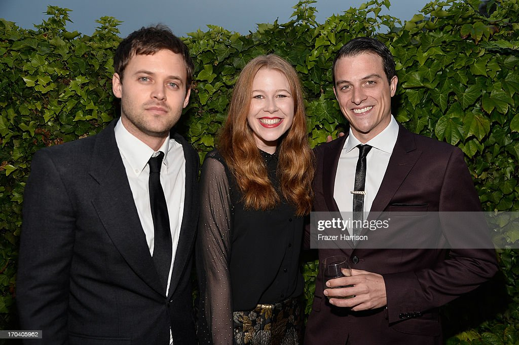 Actors Oliver Ackland, Anna McGahan and James Mackay attend the Australians In Film and Heath Ledger Scholarship Host 5th Anniversary Benefit Dinner on June 12, 2013 in Los Angeles, California.