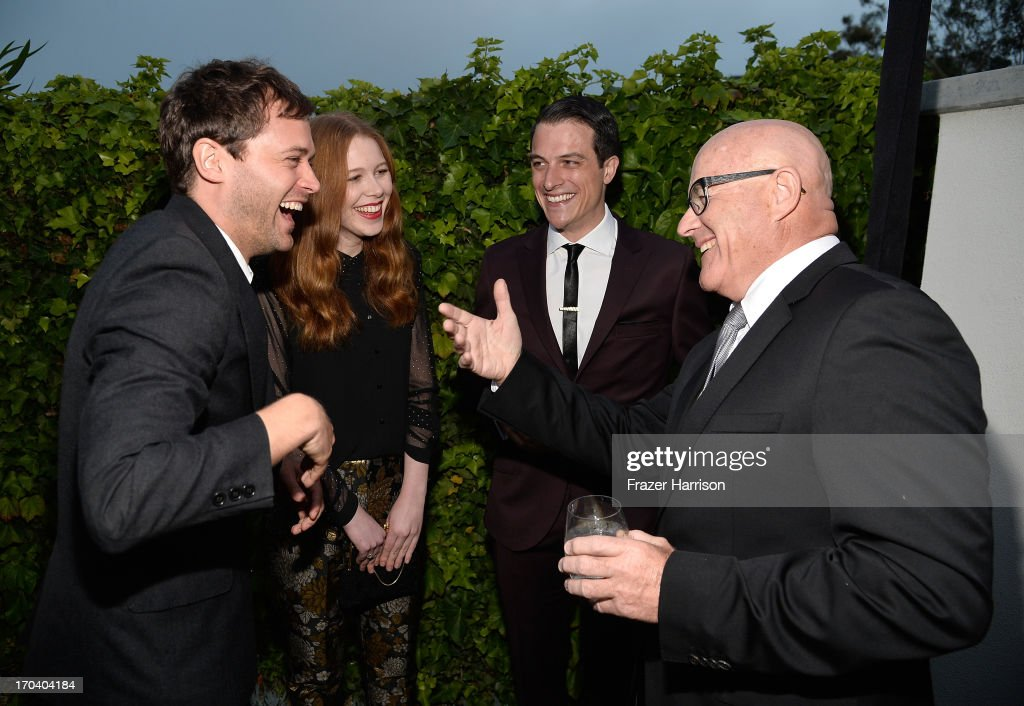 Actors Oliver Ackland, Anna McGahan, James Mackay and Kim Ledger attend the Australians In Film and Heath Ledger Scholarship Host 5th Anniversary Benefit Dinner on June 12, 2013 in Los Angeles, California.