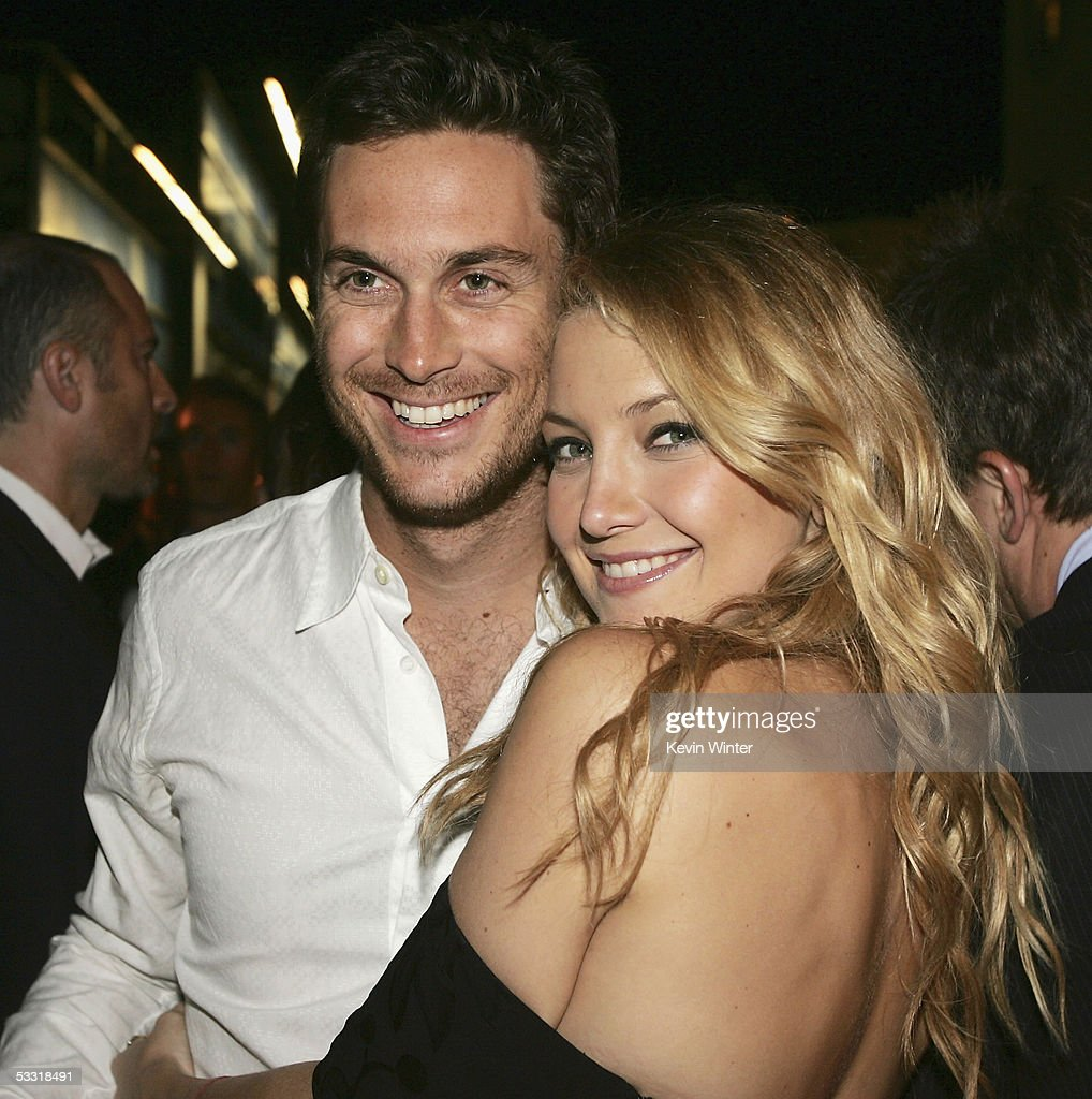 Actors Oliver Hudson and his sister <a gi-track='captionPersonalityLinkClicked' href=/galleries/search?phrase=Kate+Hudson&family=editorial&specificpeople=156407 ng-click='$event.stopPropagation()'>Kate Hudson</a> pose at the afterparty for the premiere of Universal Picture's 'The Skeleton Key' at the Universal Studio Tour on August 2, 2005 in Los Angeles, California.