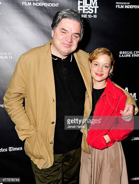 Actors Oliver Platt and Jane Levy attend the 'Frank and Cindy' screening during the 2015 Los Angeles Film Festival at Regal Cinemas LA Live on June...