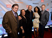 Actors Oliver Platt S Epatha Merkerson Executive Producer Dick Wolf actress Yaya DaCosta and NBC Entertainment chairman Robert Greenblatt attend a...