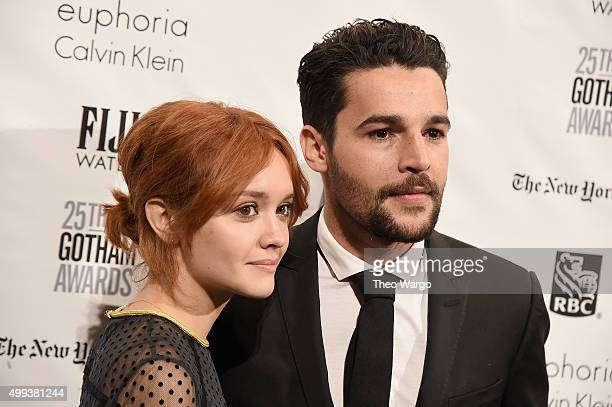 Actors Olivia Cooke and Christopher Abbott attend the 25th Annual Gotham Independent Film Awards at Cipriani Wall Street on November 30 2015 in New...