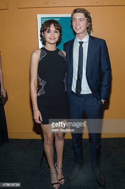 Actors Olivia Cooke and Thomas Mann attend the 'Me and Earl and the Dying Girl' Premiere at the Sunshine Landmark on June 10 2015 in New York City