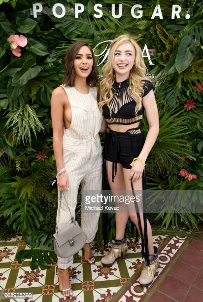 Actors Olivia Culpo and Peyton List attend POPSUGAR and The Council of Fashion Designers of America's Brunch with Designers Emily Current and Meritt...