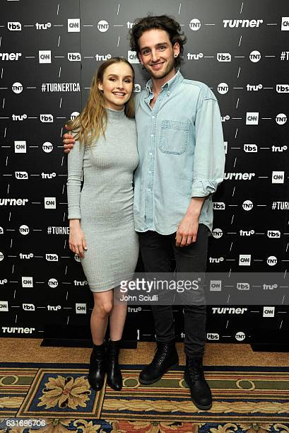 Actors Olivia DeJonge and Laurie Davidson of 'Will' pose in the green room during the TCA Turner Winter Press Tour 2017 Presentation at The Langham...