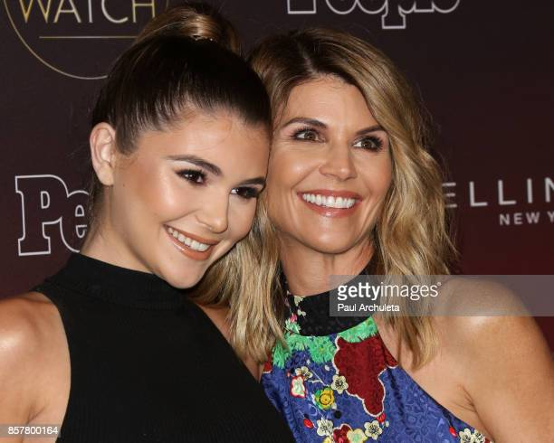 Actors Olivia Jade Giannulli and Lori Loughlin attend People's 'Ones To Watch' party at NeueHouse Hollywood on October 4 2017 in Los Angeles...