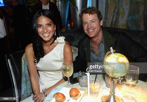 Actors Olivia Munn and Greg Kinnear attend the after party for HBO's New Series 'Newsroom' Los Angeles Premiere at Boulevard3 on June 20 2012 in...