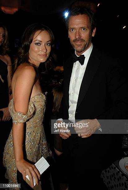 Actors Olivia Wilde and Hugh Laurie attends the 59th Annual Emmy Awards Governors Ball on September 16th 2007 in Los Angeles California