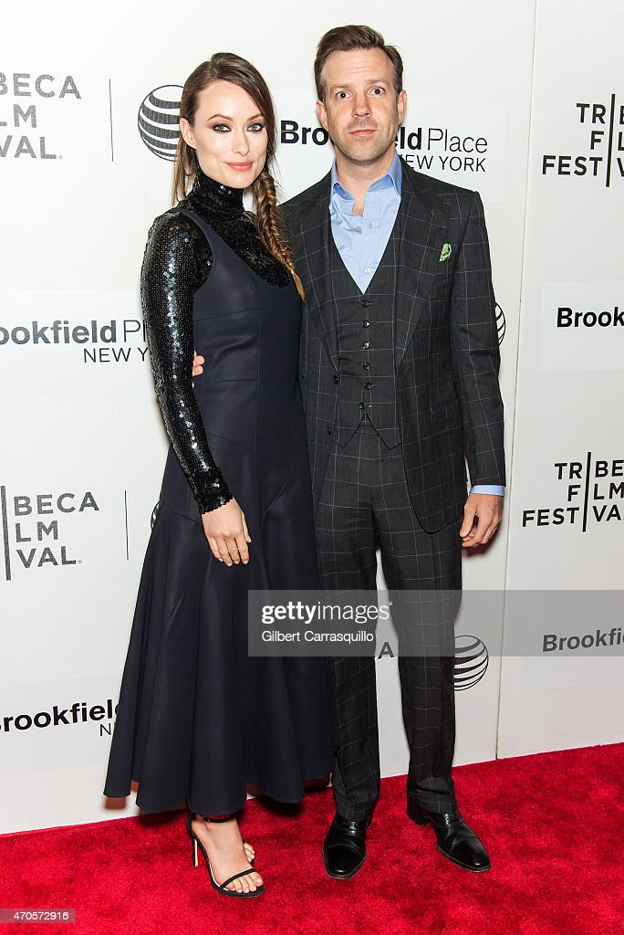 Actors Olivia Wilde and Jason Sudeikis attend the 2015 Tribeca Film Festival New York Premiere 'Sleeping With Other People' at BMCC Tribeca PAC on...
