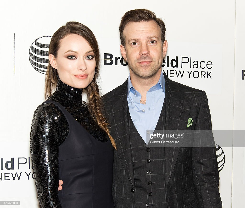 Actors Olivia Wilde and Jason Sudeikis attend the 2015 Tribeca Film Festival New York Premiere 'Sleeping With Other People' at BMCC Tribeca PAC on April 21, 2015 in New York City.
