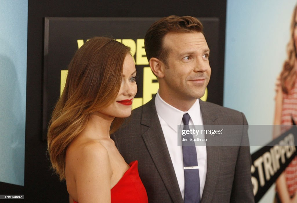 Actors <a gi-track='captionPersonalityLinkClicked' href=/galleries/search?phrase=Olivia+Wilde&family=editorial&specificpeople=235399 ng-click='$event.stopPropagation()'>Olivia Wilde</a> and <a gi-track='captionPersonalityLinkClicked' href=/galleries/search?phrase=Jason+Sudeikis&family=editorial&specificpeople=4232997 ng-click='$event.stopPropagation()'>Jason Sudeikis</a> attend the 'We're The Millers' New York Premiere at Ziegfeld Theater on August 1, 2013 in New York City.