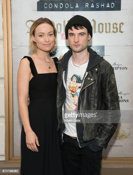 Actors Olivia Wilde and Tom Sturridge attend the opening night on Broadway of Lucas Hnath's 'A Doll's House Part 2' starring Laurie Metcalf and Chris...