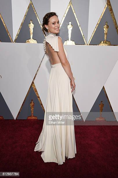 Actors Olivia Wilde attends the 88th Annual Academy Awards at Hollywood Highland Center on February 28 2016 in Hollywood California