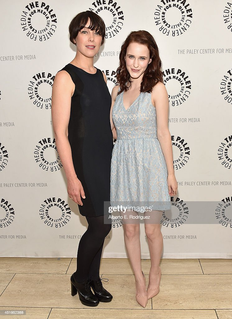 Actors Olivia Williams and Rachel Brosnahan attend The Paley Center For Media Presents An Evening With WGN America's 'Manhattan' at The Paley Center for Media on July 9, 2014 in Beverly Hills, California.