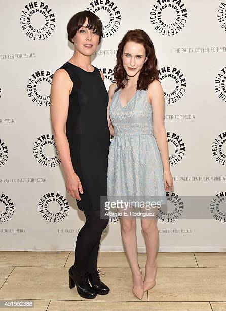 Actors Olivia Williams and Rachel Brosnahan attend The Paley Center For Media Presents An Evening With WGN America's 'Manhattan' at The Paley Center...