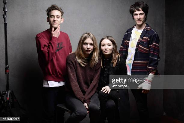 Actors Olly Alexander Hannah Murray Emily Browning and Pierre Boulanger pose for a portrait during the 2014 Sundance Film Festival at the Getty...
