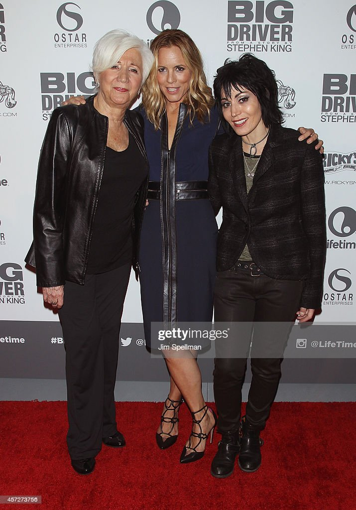 Actors Olympia Dukakis, Maria Bello and singer/actress Joan Jett attend the 'Big Driver' New York Premiere at Angelika Film Center on October 15, 2014 in New York City.