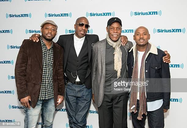 Actors Omar Epps J B Smoove Danny Glover and Romany Malco visit the SiriusXM Studio on October 31 2016 in New York City