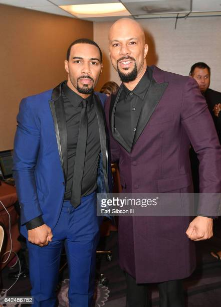 Actors Omari Hardwick and Common attend BET Presents the American Black Film Festival Honors on February 17 2017 in Beverly Hills California