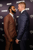 Actors Omari Hardwick and Joseph Sikora attend the 'Power' season two premiere event with special performance from 50 Cent GUnit and other guests on...