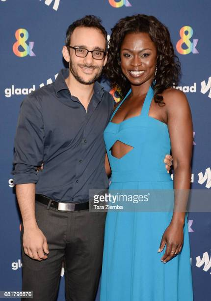 Actors Omid Abtahi and Yetide Bakadi attend STARZ's Presents A Special Screening Of 'American Gods' In Partnership With GLAAD at The Paley Center for...