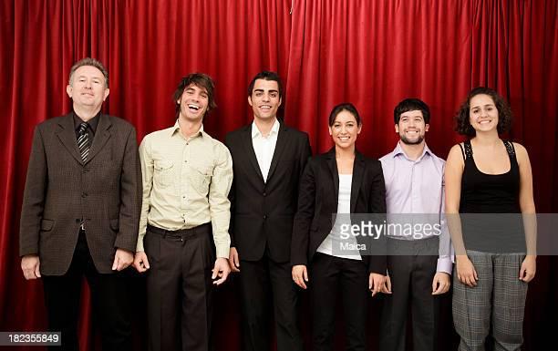 Acteurs sur la scène de