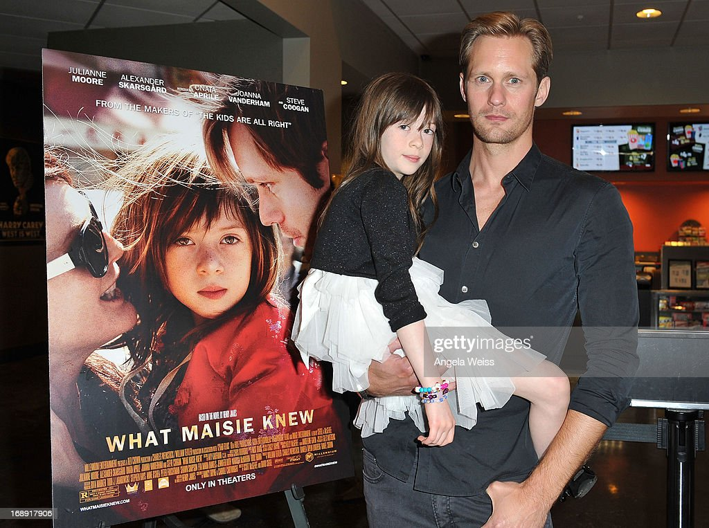 Actors <a gi-track='captionPersonalityLinkClicked' href=/galleries/search?phrase=Onata+Aprile&family=editorial&specificpeople=8141731 ng-click='$event.stopPropagation()'>Onata Aprile</a> and Alexander Skarsgard attend the LA Times Indie Focus Screening of 'What Masie Knew' at Laemmle NoHo 7 on May 16, 2013 in North Hollywood, California.