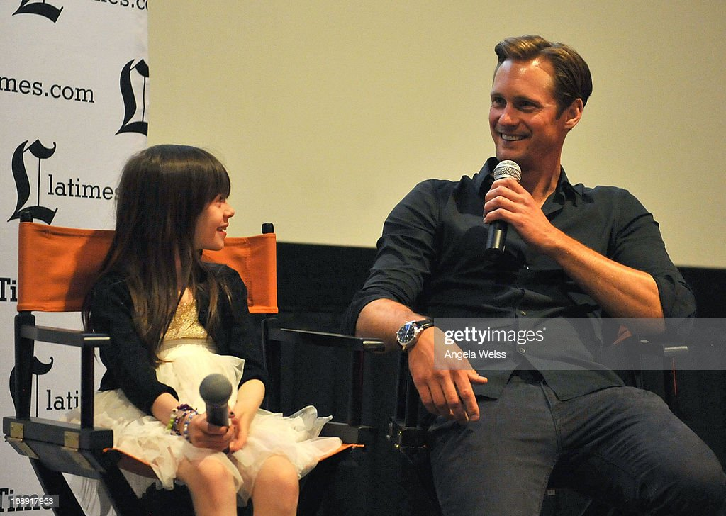 Actors Onata Aprile and Alexander Skarsgard attend the LA Times Indie Focus Screening of 'What Masie Knew' at Laemmle NoHo 7 on May 16, 2013 in North Hollywood, California.