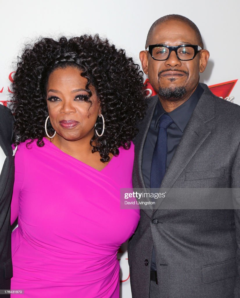 Actors <a gi-track='captionPersonalityLinkClicked' href=/galleries/search?phrase=Oprah+Winfrey&family=editorial&specificpeople=171750 ng-click='$event.stopPropagation()'>Oprah Winfrey</a> (L) and <a gi-track='captionPersonalityLinkClicked' href=/galleries/search?phrase=Forest+Whitaker&family=editorial&specificpeople=226590 ng-click='$event.stopPropagation()'>Forest Whitaker</a> attend the premiere of the Weinstein Company's 'Lee Daniels' The Butler' at Regal Cinemas L.A. Live on August 12, 2013 in Los Angeles, California.