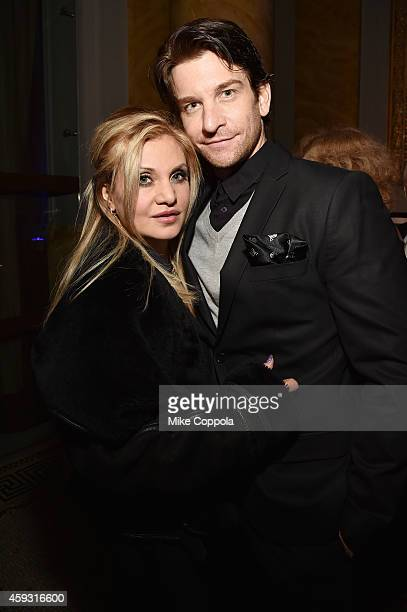 Actors Orfeh and Andy Karl attend the TJ Martell Foundation's 11th annual New York World Tour of Wine on November 20 2014 in New York City