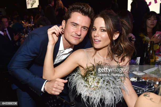 Actors Orlando Bloom and Kate Beckinsale attend the 2017 Film Independent Spirit Awards at the Santa Monica Pier on February 25 2017 in Santa Monica...