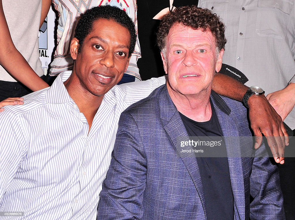 Actors Orlando Jones (L) and John Noble attend the 'Sleepy Hollow' Press Line during Comic-Con International 2014 at Hilton Bayfront on July 25, 2014 in San Diego, California.