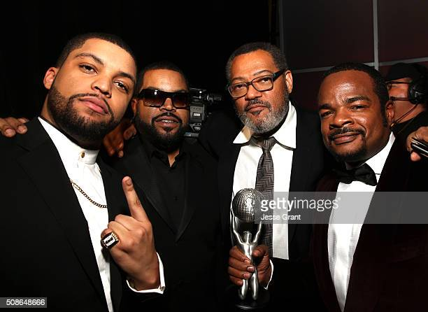 Actors O'Shea Jackson Jr Ice Cube Laurence Fishburne and director F Gary Gray attend the 47th NAACP Image Awards presented by TV One at Pasadena...
