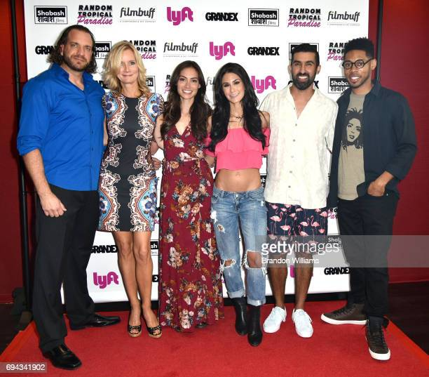 Actors Owen Harn Beth Littleford Caitlin McHugh comedian Brittany Furlan director / producer Sanjeev Sirpal and actor Alphonso McAuley attend the...