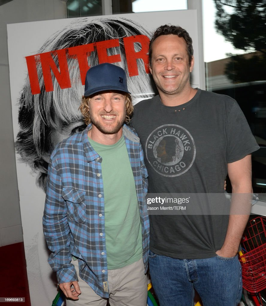 Actors <a gi-track='captionPersonalityLinkClicked' href=/galleries/search?phrase=Owen+Wilson&family=editorial&specificpeople=202027 ng-click='$event.stopPropagation()'>Owen Wilson</a> (L) and <a gi-track='captionPersonalityLinkClicked' href=/galleries/search?phrase=Vince+Vaughn&family=editorial&specificpeople=182440 ng-click='$event.stopPropagation()'>Vince Vaughn</a> are seen at 'The Internship' Googler Premiere on May 30, 2013 in San Francisco, California.