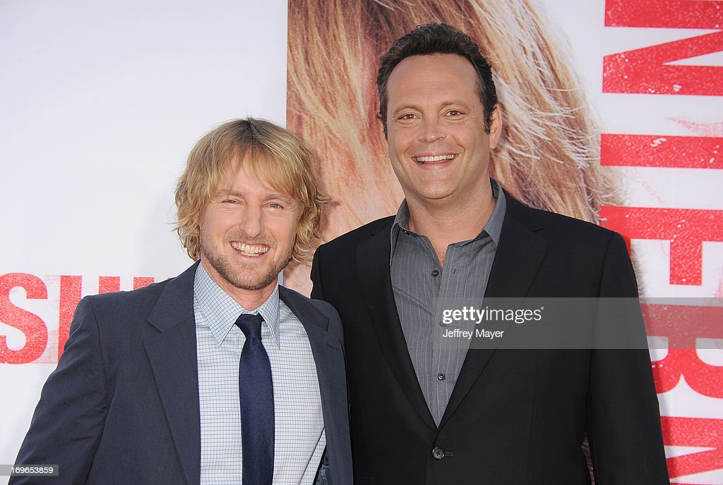 Actors <a gi-track='captionPersonalityLinkClicked' href=/galleries/search?phrase=Owen+Wilson&family=editorial&specificpeople=202027 ng-click='$event.stopPropagation()'>Owen Wilson</a> and <a gi-track='captionPersonalityLinkClicked' href=/galleries/search?phrase=Vince+Vaughn&family=editorial&specificpeople=182440 ng-click='$event.stopPropagation()'>Vince Vaughn</a> arrive at 'The Internship' - Los Angeles Premiere at Regency Village Theatre on May 29, 2013 in Westwood, California.