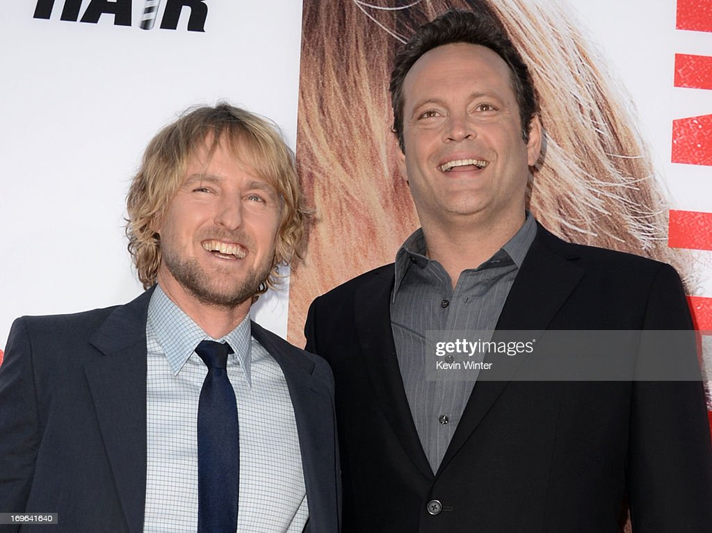 Actors <a gi-track='captionPersonalityLinkClicked' href=/galleries/search?phrase=Owen+Wilson&family=editorial&specificpeople=202027 ng-click='$event.stopPropagation()'>Owen Wilson</a> (L) and <a gi-track='captionPersonalityLinkClicked' href=/galleries/search?phrase=Vince+Vaughn&family=editorial&specificpeople=182440 ng-click='$event.stopPropagation()'>Vince Vaughn</a> arrive at the premiere of Twentieth Century Fox's 'The Internship' at Regency Village Theatre on May 29, 2013 in Westwood, California.