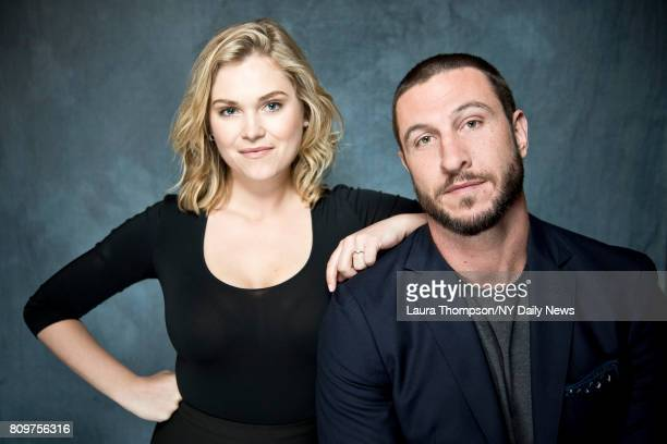 Actors Pablo Schreiber and Eliza Taylor photographed for NY Daily News on April 22 in New York City