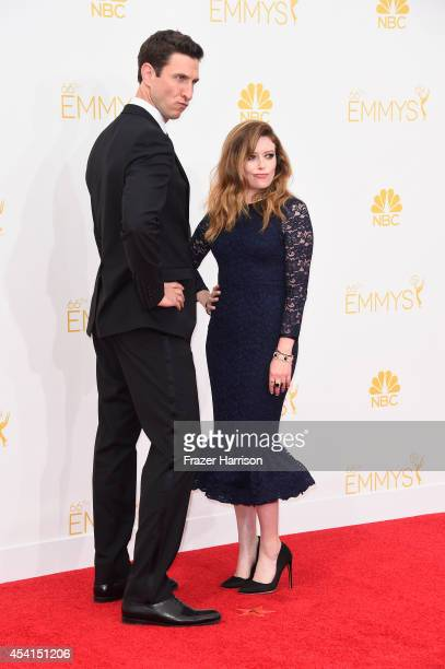 Actors Pablo Schreiber and Natasha Lyonne attend the 66th Annual Primetime Emmy Awards held at Nokia Theatre LA Live on August 25 2014 in Los Angeles...