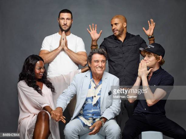Actors Pablo Schreiber Ricky Whittle Yetide Badaki Ian McShane and Bruce Langley from 'American Gods' are photographed for Entertainment Weekly...