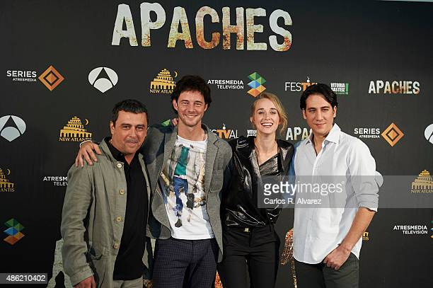 Actors Paco Tous Eloy Azorin Ingrid Garcia Jonsson and Alberto Ammann attend the 'Apaches' photocall during the 7th FesTVal Television Festival 2015...