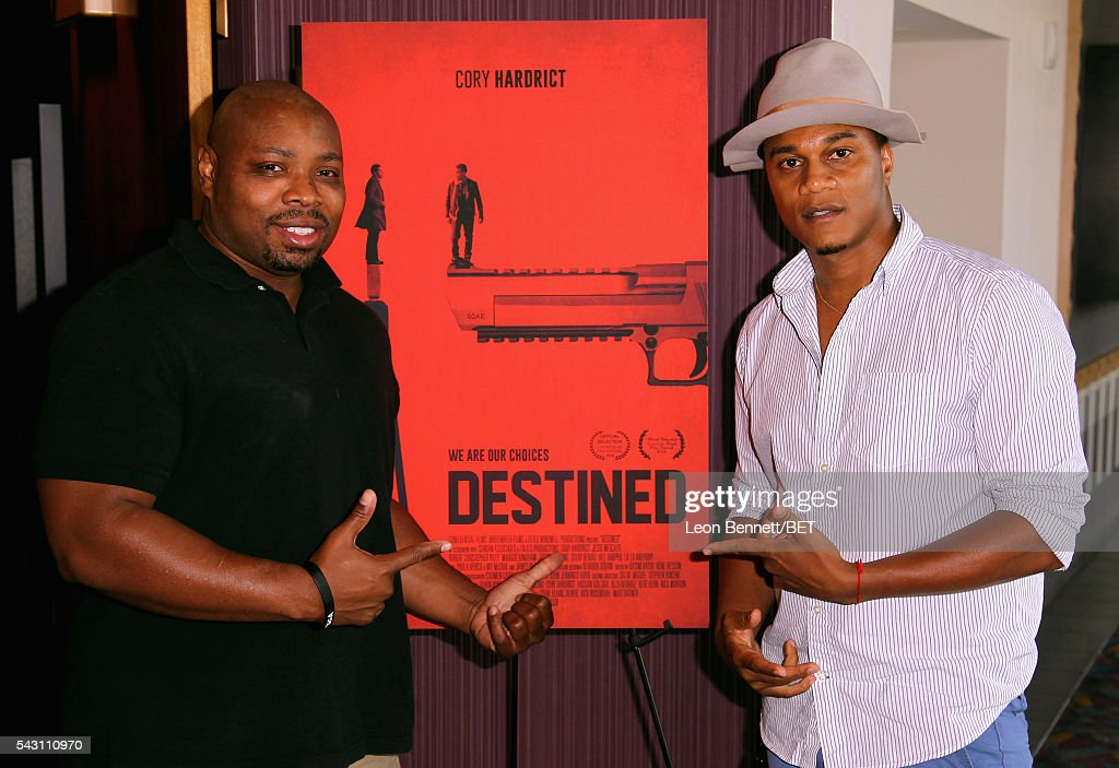 Actors Page Kennedy(L) and Cory Hardrict attend the ABFF Encore @ BET Experience Screening 'Destined' during the 2016 BET Experience on June 25, 2016 in Los Angeles, California.