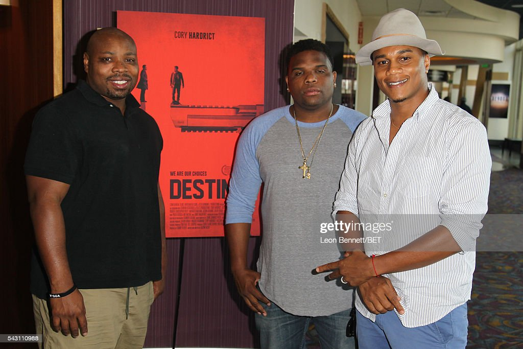 Actors Page Kennedy, Kyle Smith, and Cory Hardrict attend the ABFF Encore @ BET Experience Screening 'Destined' during the 2016 BET Experience on June 25, 2016 in Los Angeles, California.